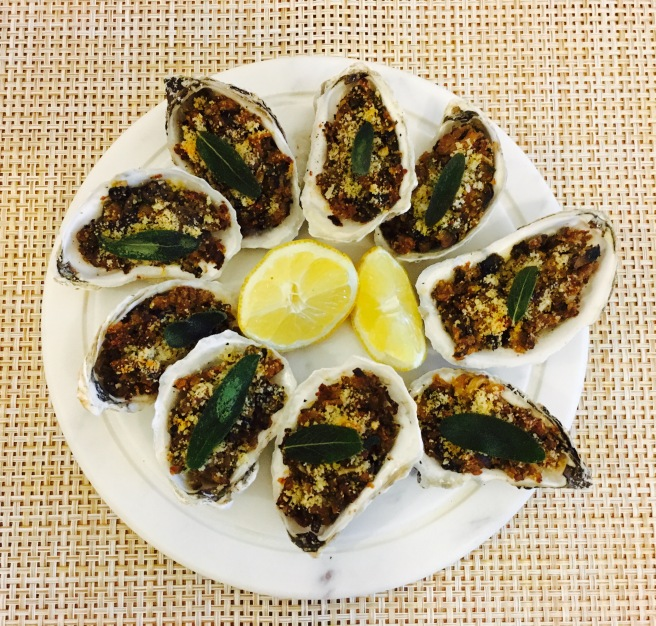Vegan Baked Oysters