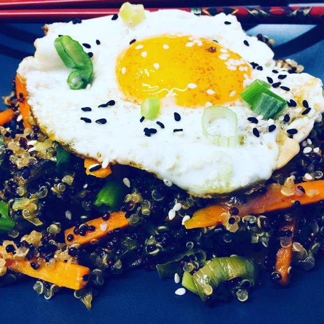 Kimchi Quinoa Stirfry